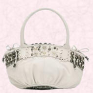 Butterfly White button circle shoulder bag �55 by Matthew Williamson for the Spring/Summer 2006 range of Accessories at Debenhams.